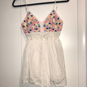 LF white romper with embroidery